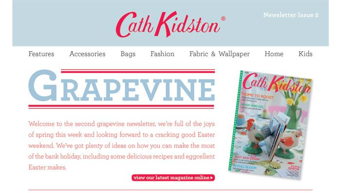I love the Cath Kidston newsletter and will be trying out their recipes.