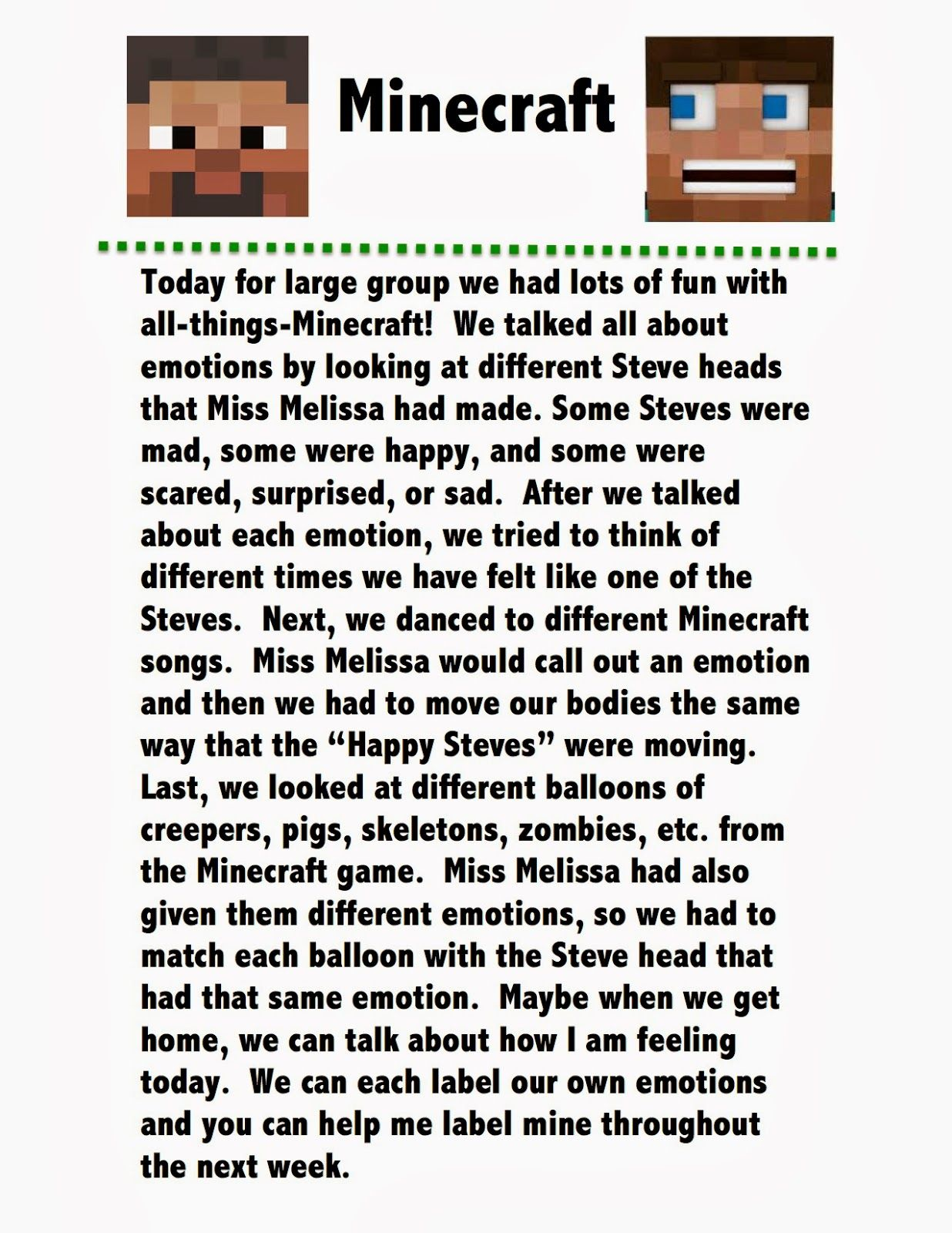 Miss Melissa S Speech Minecraft Play Therapy Interventions Therapy Activities Counseling Kids [ 1600 x 1236 Pixel ]