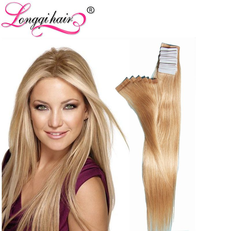 Tape In Hair Extensions 20pcs 18 24brazilian Blonde Hair Tape In