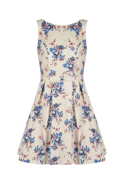 743d2f54e1c Robe sans manches motif fleuri imprime - robes femme - naf naf ...