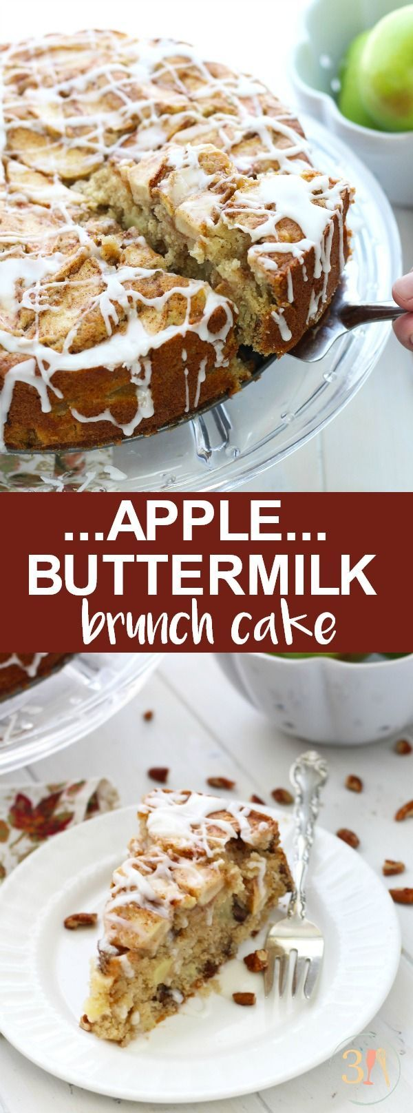 This Apple Buttermilk Brunch Cake Has Fresh Granny Smith Apples And Is Served Warm With A Butter Granny Smith Apples Recipes Apple Brunch Recipes Apple Recipes