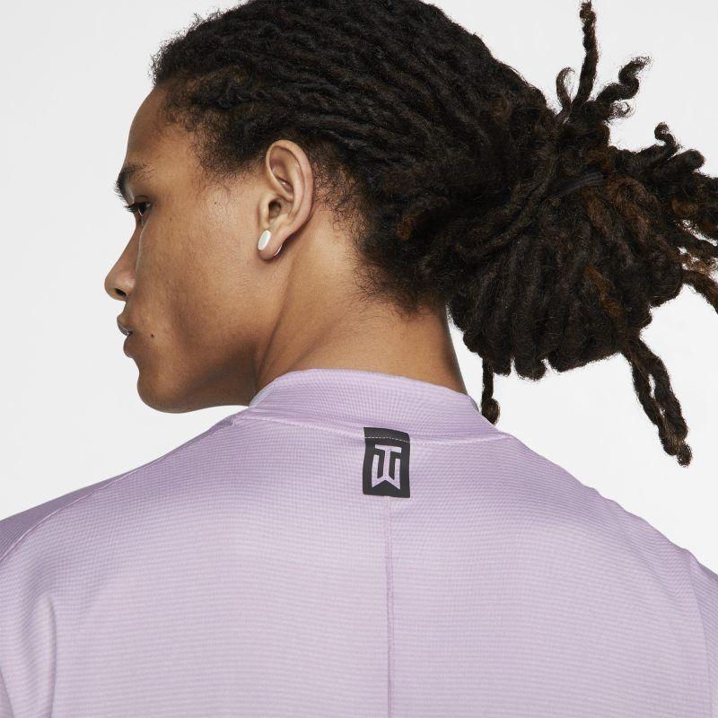 22096738 Nike Dri-FIT Tiger Woods Vapor Men's Mock-Neck Golf Top - Purple