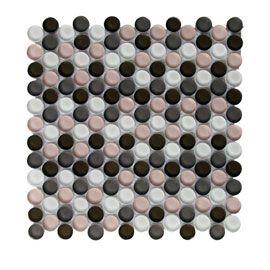 Mosaique Tobuko Gris Rose 31 X 30 4 Cm Gris Rose Gris Mosaique