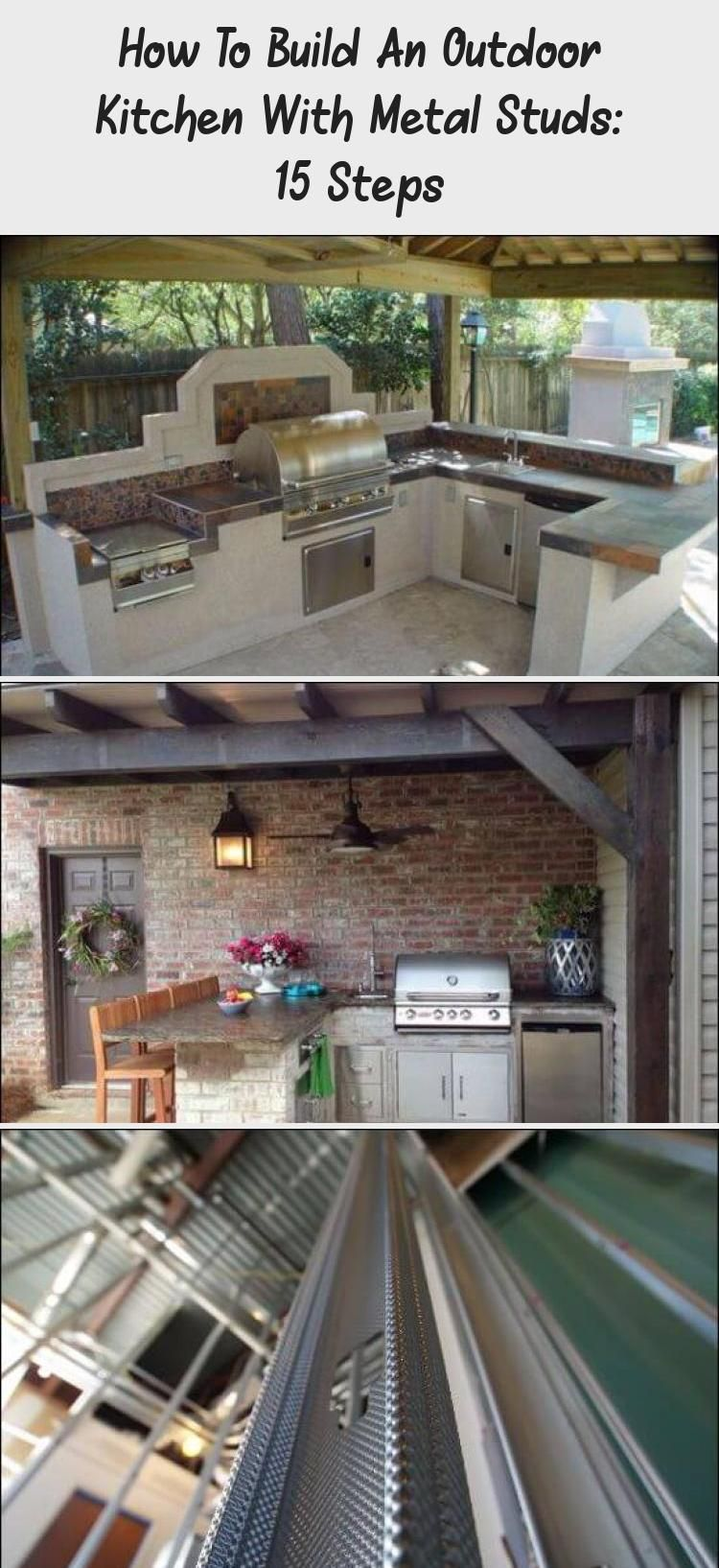How To Build An Outdoor Kitchen With Metal Studs 15 Steps Build Outdoor Kitchen Outdoor Decor Plumbing Installation