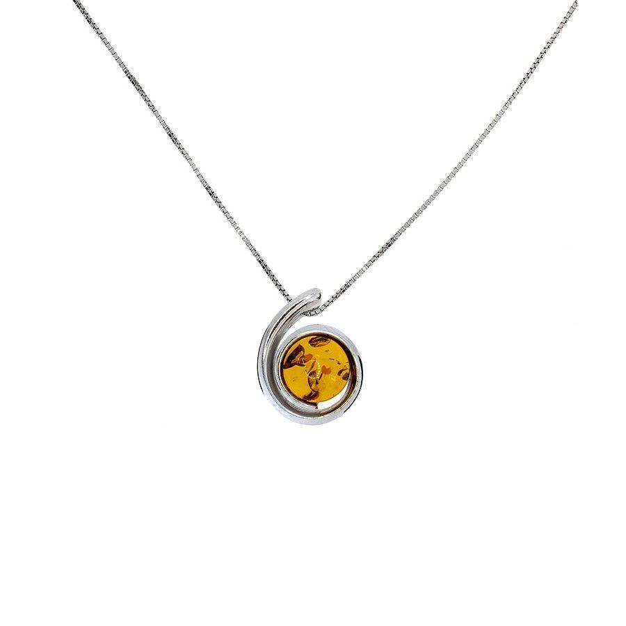 Amber Curl Pendant #Amber #Necklace #Autumn #SterlingSilver #Pendant #AmberNecklace