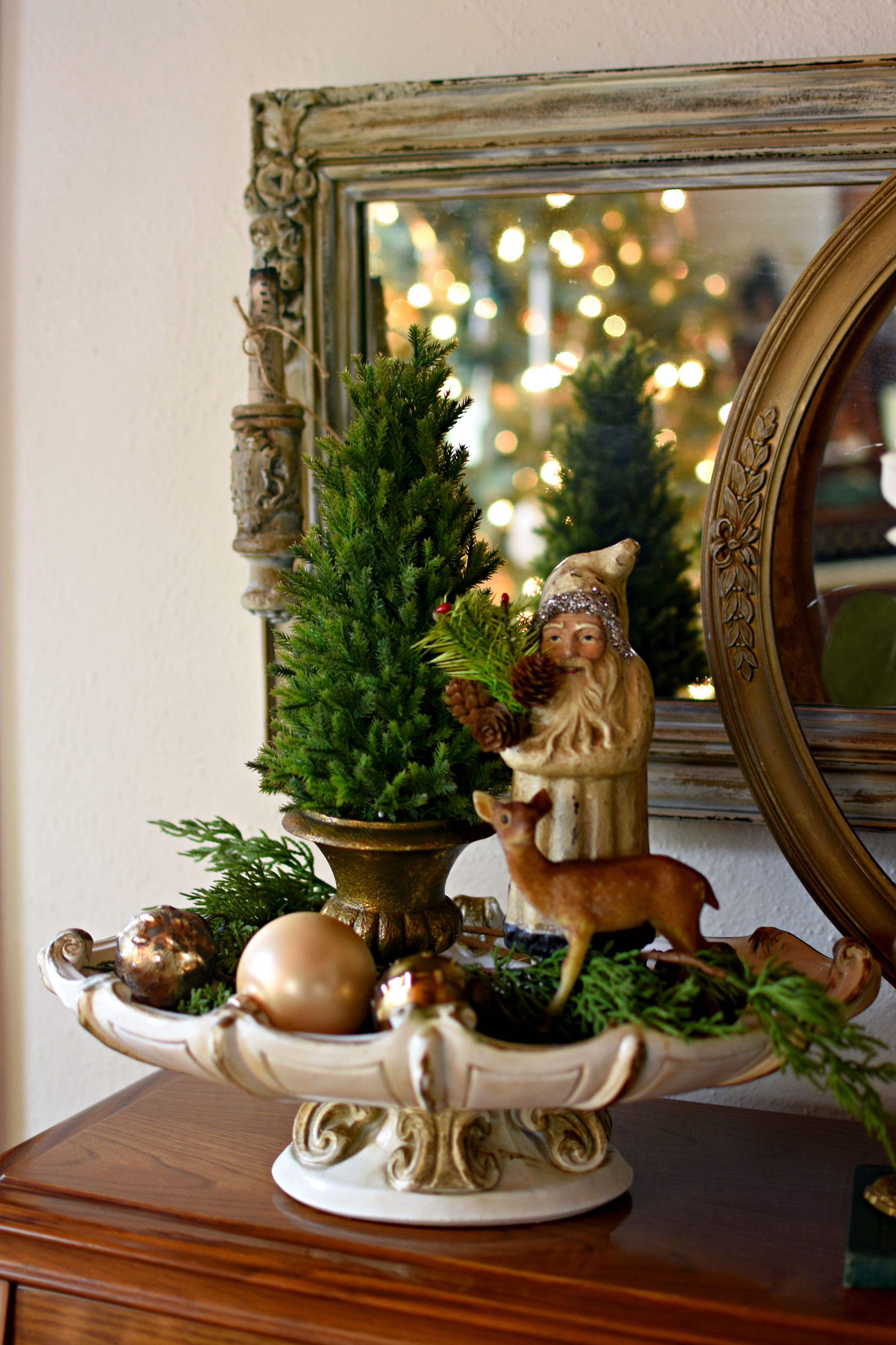 Elegant Green And Gold French Country Christmas Home Tour