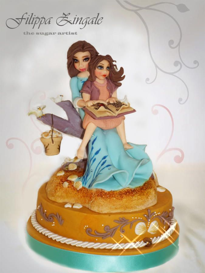 mother and daughter cake by filippa zingale art in yum form part