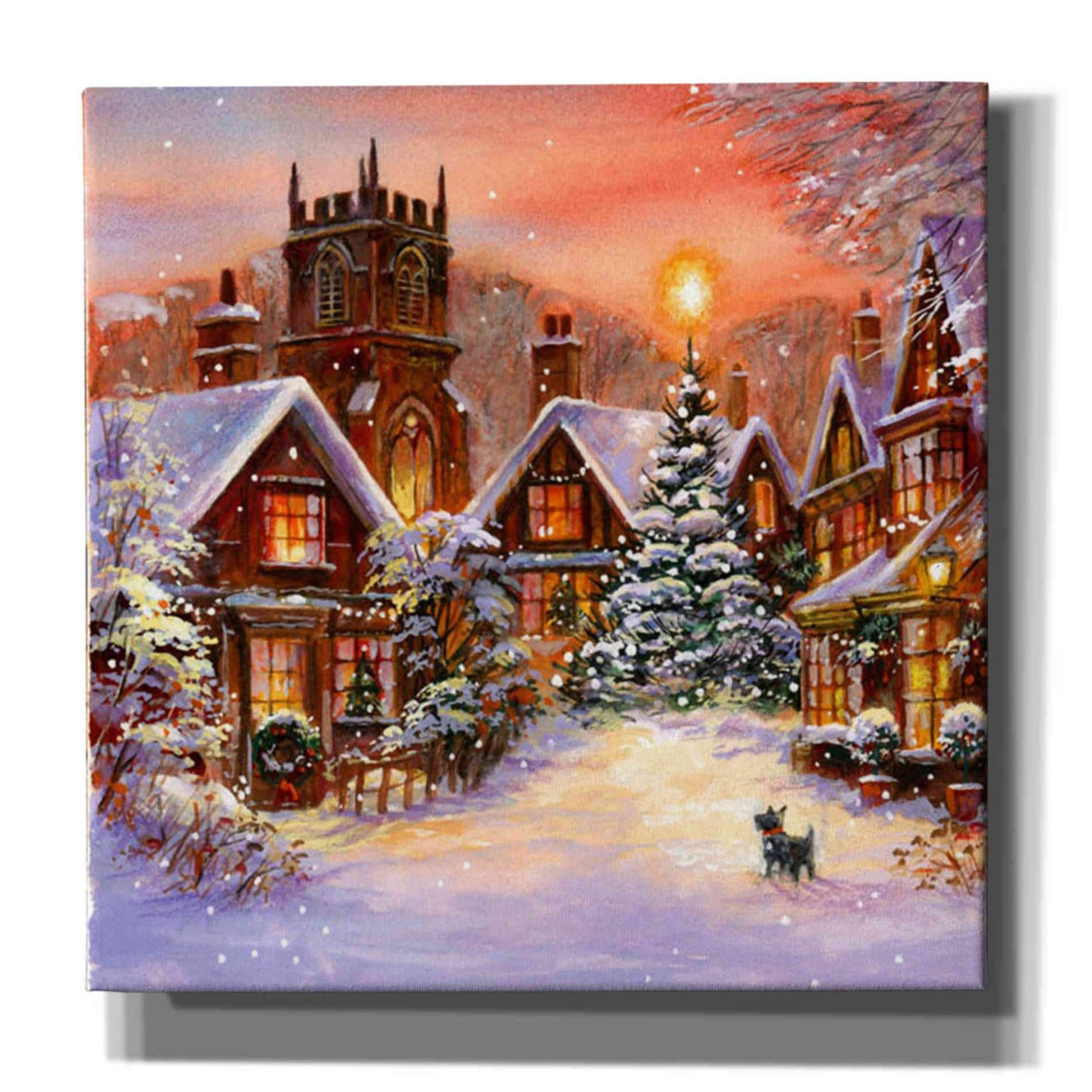 Christmas Town Ii By A V Art Canvas Wall Art In 2021 Canvas Art Prints Art Prints Art