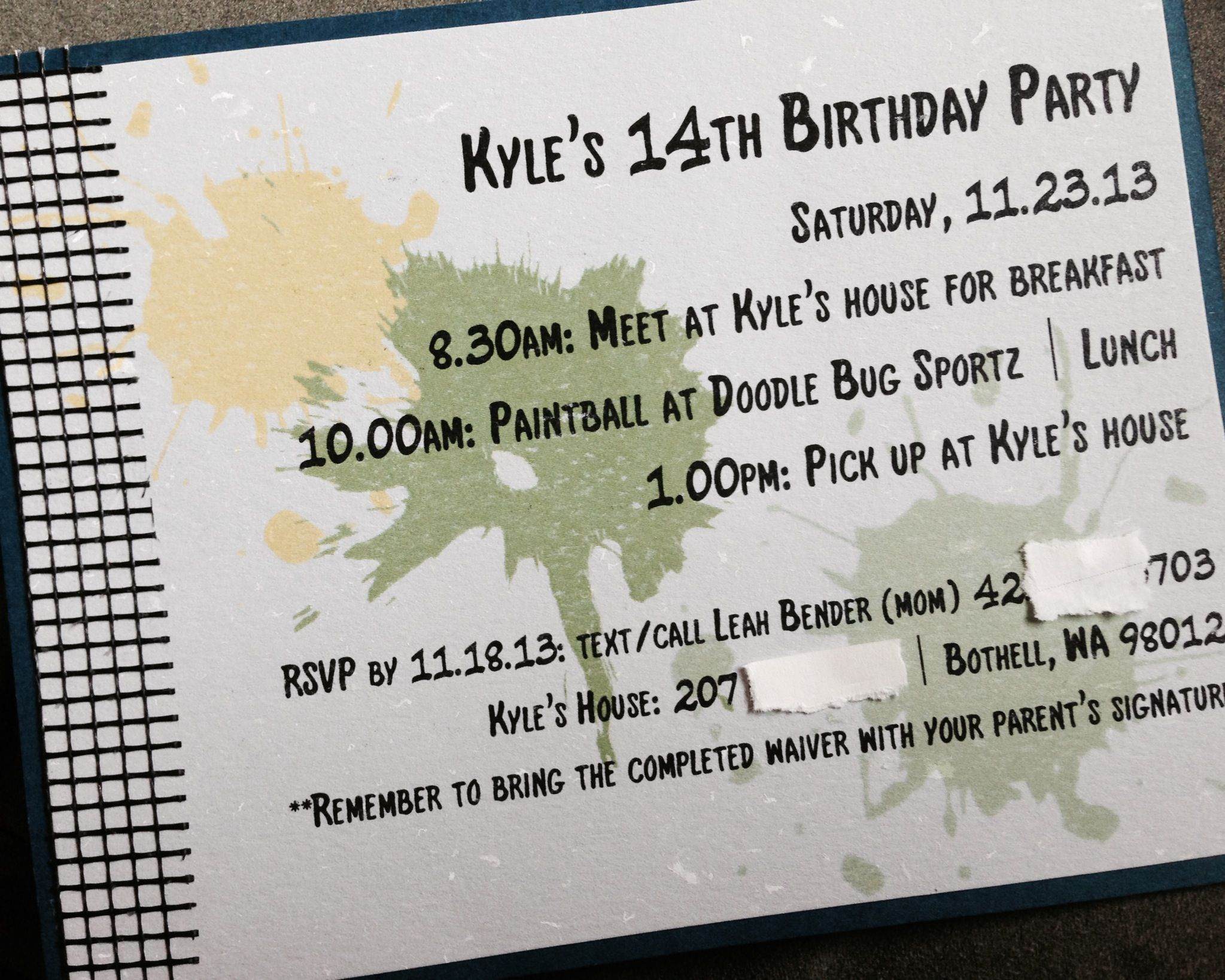 Kyle\'s 14th bday paintball party invite | Kyle\'s Partee | Pinterest ...
