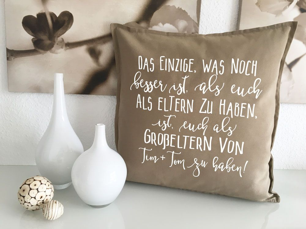Kissen für Väter mit Spruch inkl Wunschname Kuschelkissen Dekokissen Geschenk