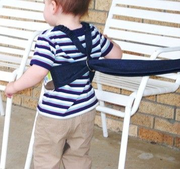 how to make a toddler harness diy
