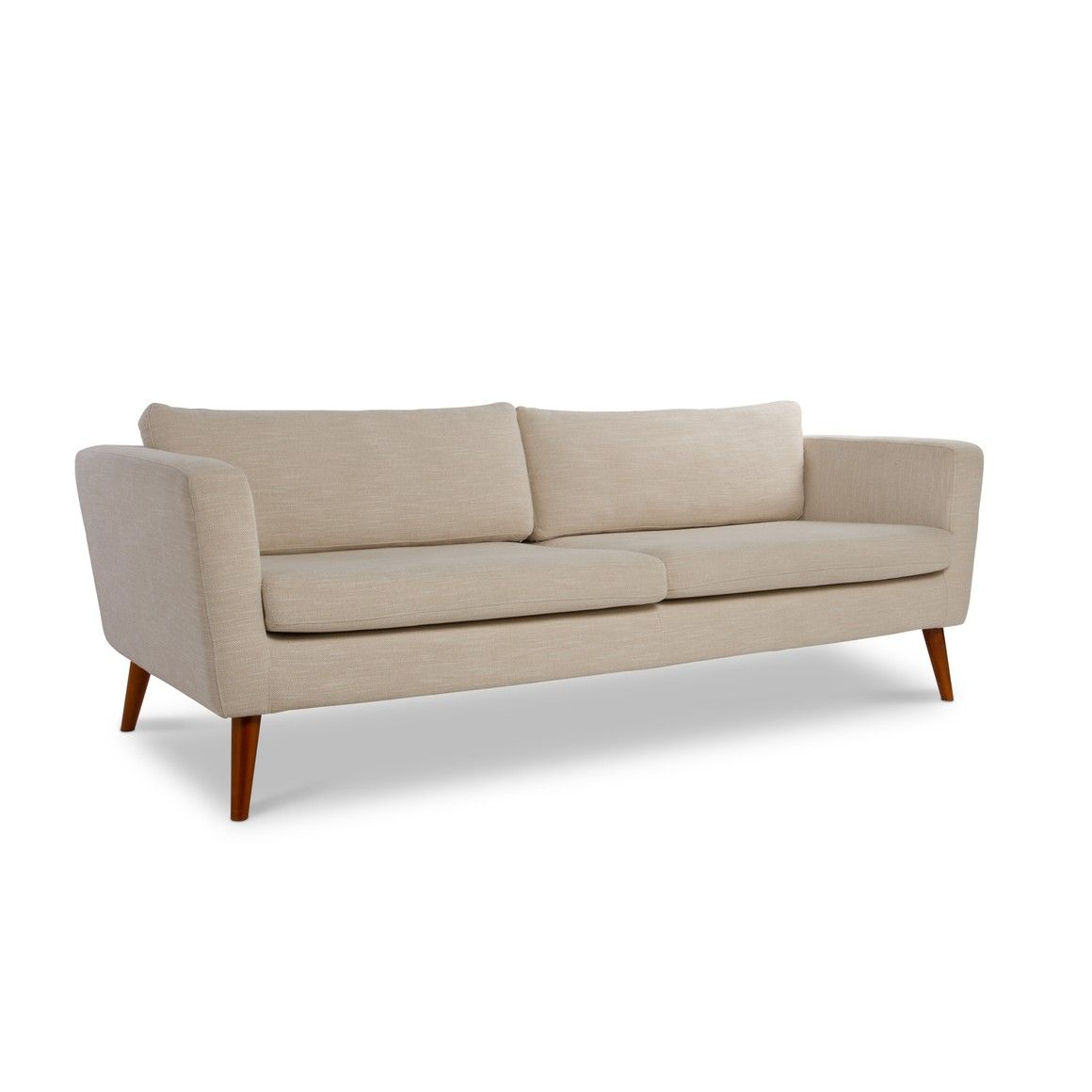 Bettsofa Interio Ch 3er Sofa Etna Beige Akazie Kiefernholz 13410900 Furniture