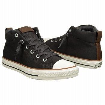 Mens Converse Chuck Taylor All Star Street Mid Top Sneaker Black/White/Gum-Stor