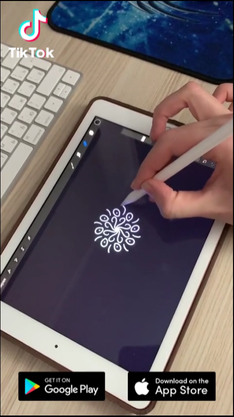 Let S Draw Something With Your Pad Download Tiktok Today To Find More Amazing Videos Life S Moving Fast So Mak Ipad Art Procreate Ipad Art Creative Drawing