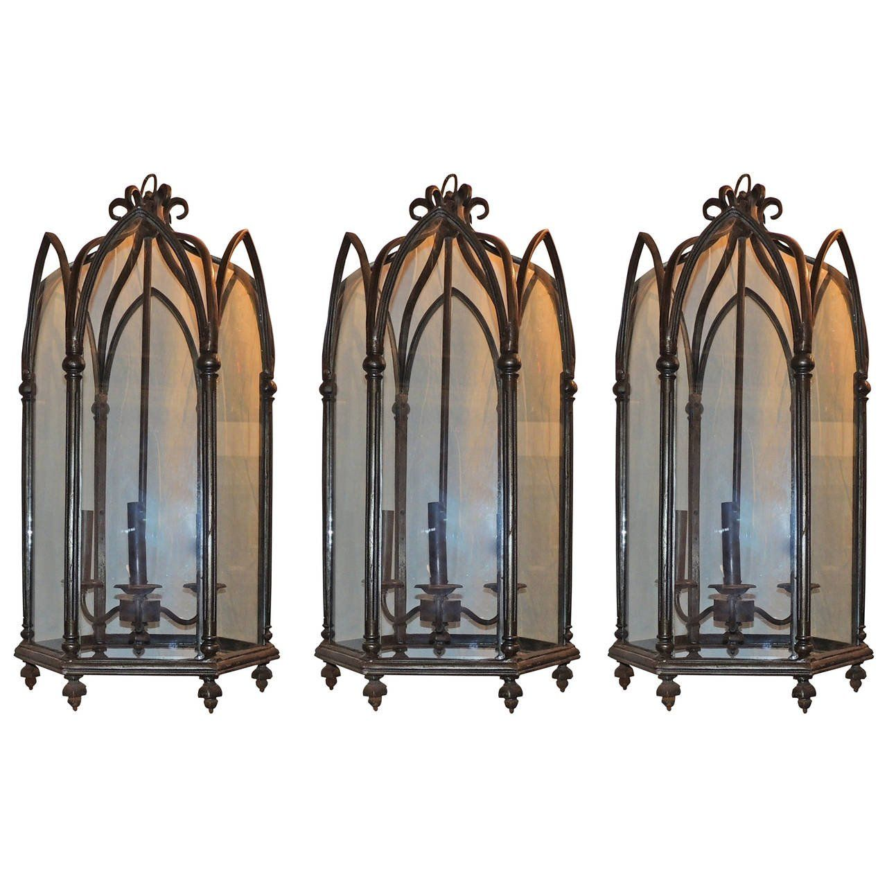 Loggia amazing set of three victorian gothic tudor silvered loggia amazing set of three victorian gothic tudor silvered lantern chandelier fixtures 1 arubaitofo Gallery