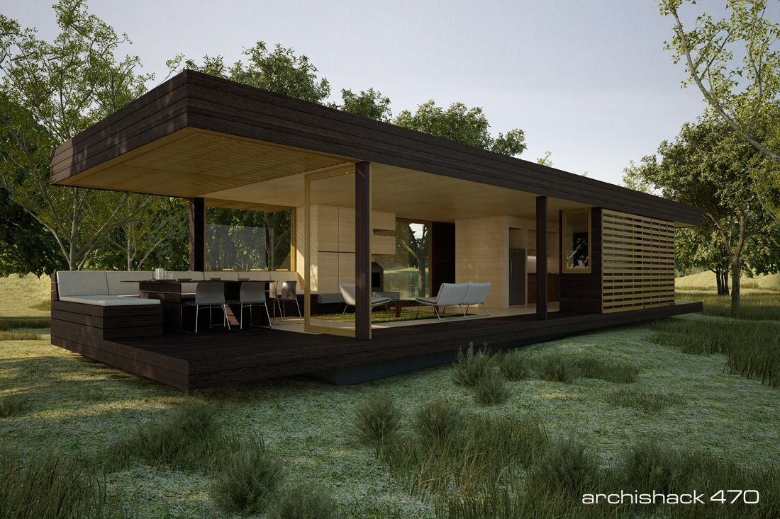 Archishack 470 Environmentally Sustainable Prefab Modular