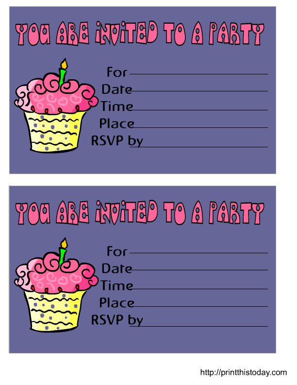 Free Birthday Invitations – Printable Birthday Invitations Online