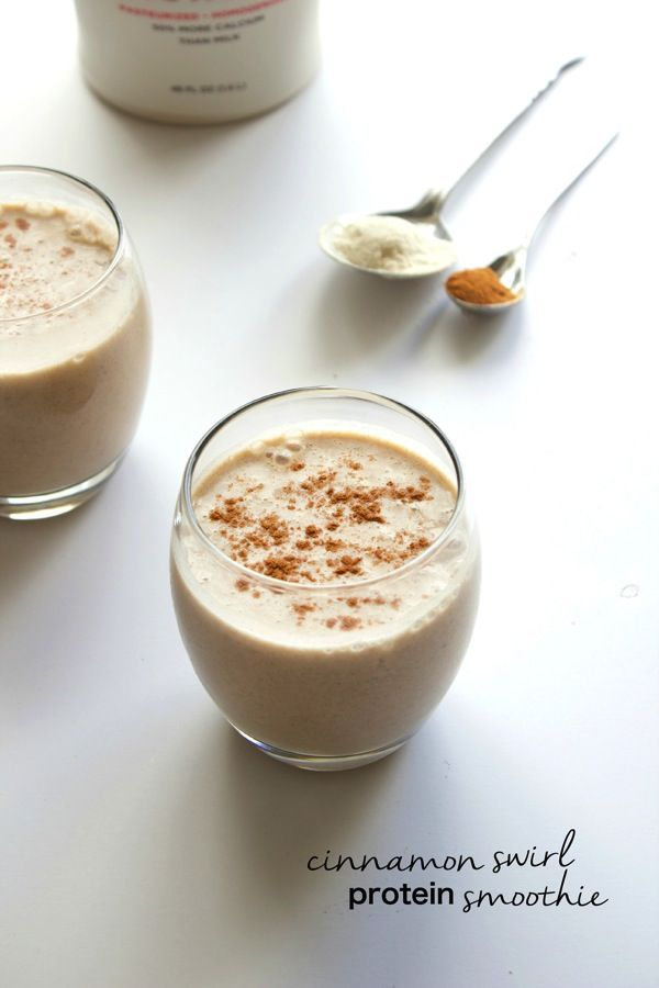 Cinnamom Roll Protein Smoothie --> Recipe please visit http://easydetoxjuice.tumblr.com #detox #smoothie #weight #loss #recipes #cleaneating #bodycleanse