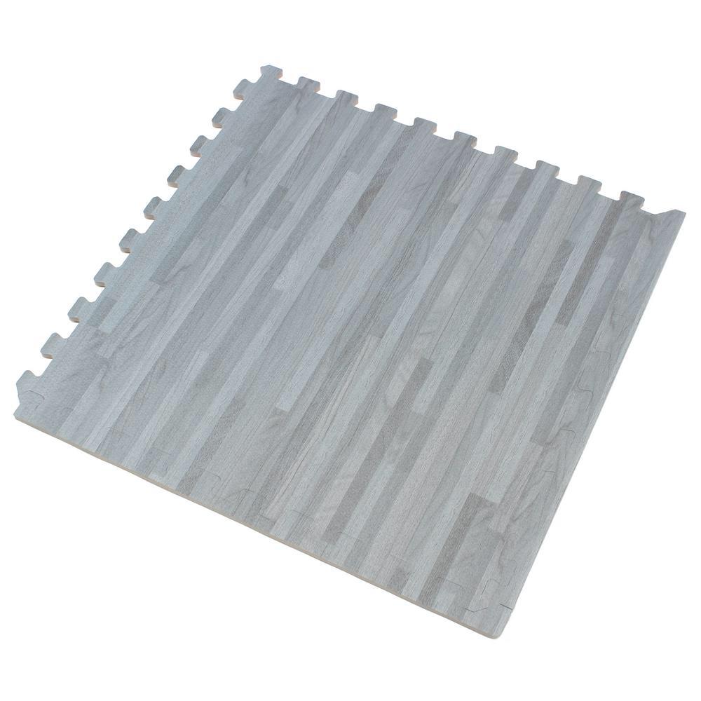 Forest Floor Slate Printed Wood Grain 24 In X 24 In X 3 8 In Interlocking Eva Foam Flooring Mat 24 Sq Ft Pack Ff24slate1 10m With Images Foam Flooring Foam Floor Tiles Interlocking Foam Mats