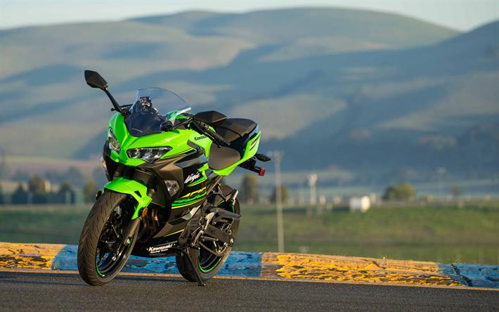 Download Wallpapers 4k, Kawasaki Ninja 400, Superbikes