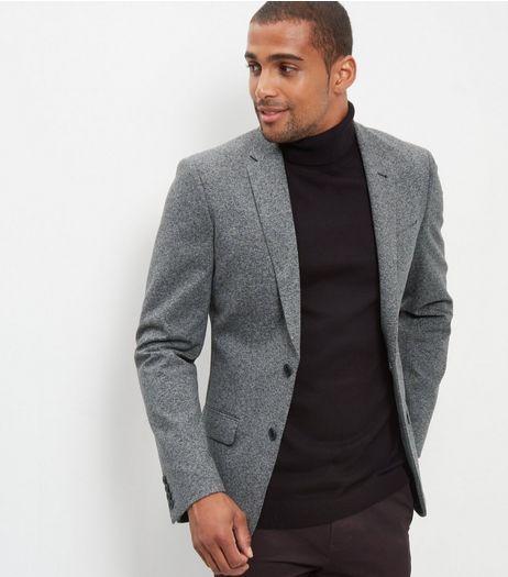 426acfdb9dd4 Grey Textured Blazer | New Look | clothes in 2019 | Blazer, Blazers ...