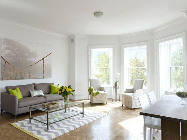Smarte Anwendung von Chevron Mustern im Wohnzimmer Wohnzimmer 2019