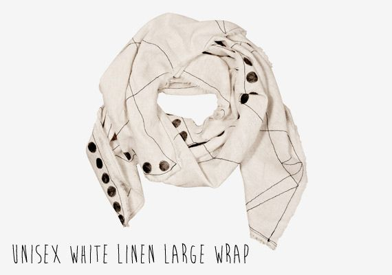 unisex-White-linen-large-wrap
