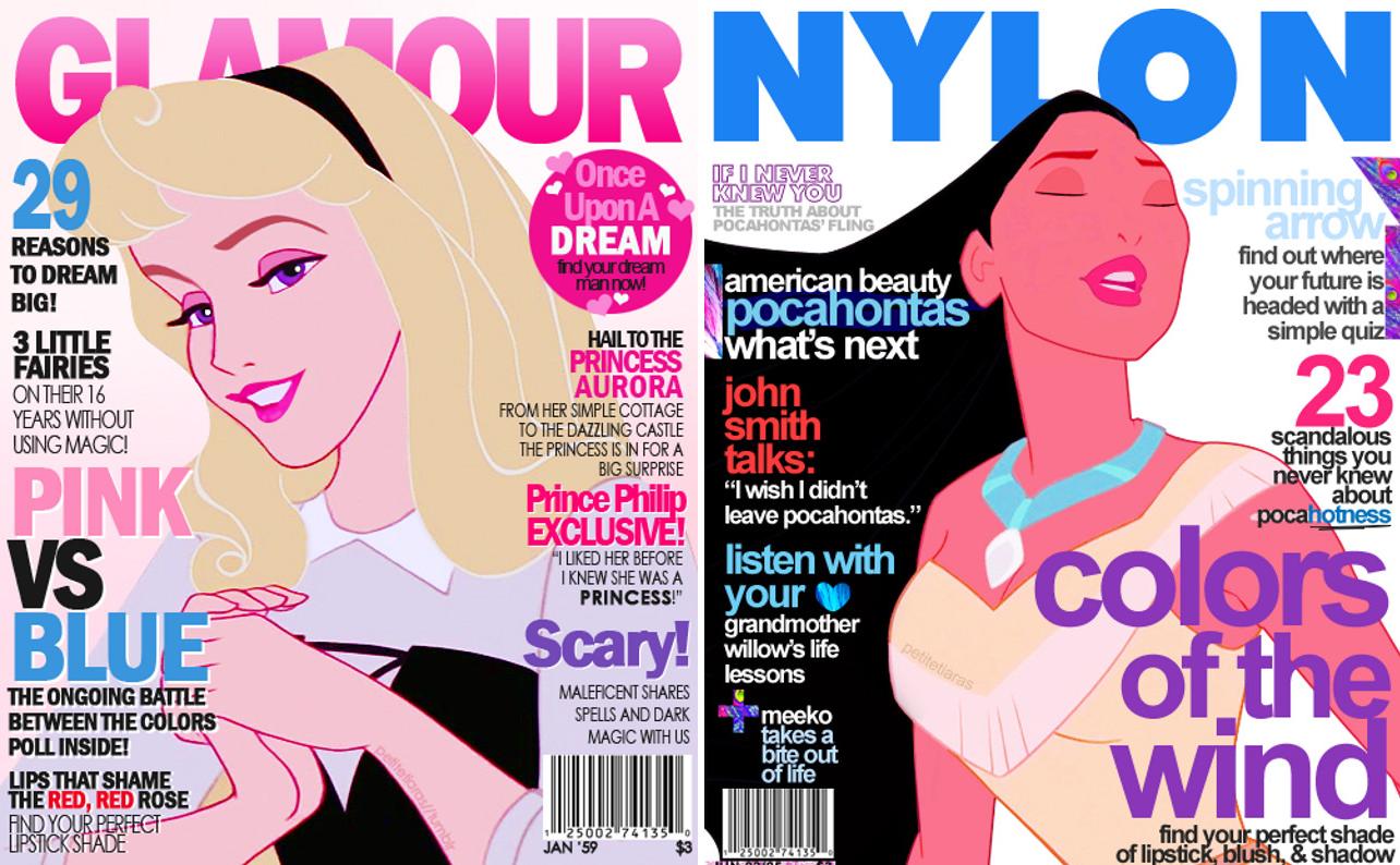 Disney Mag - Princess Aurora and Pocahontas