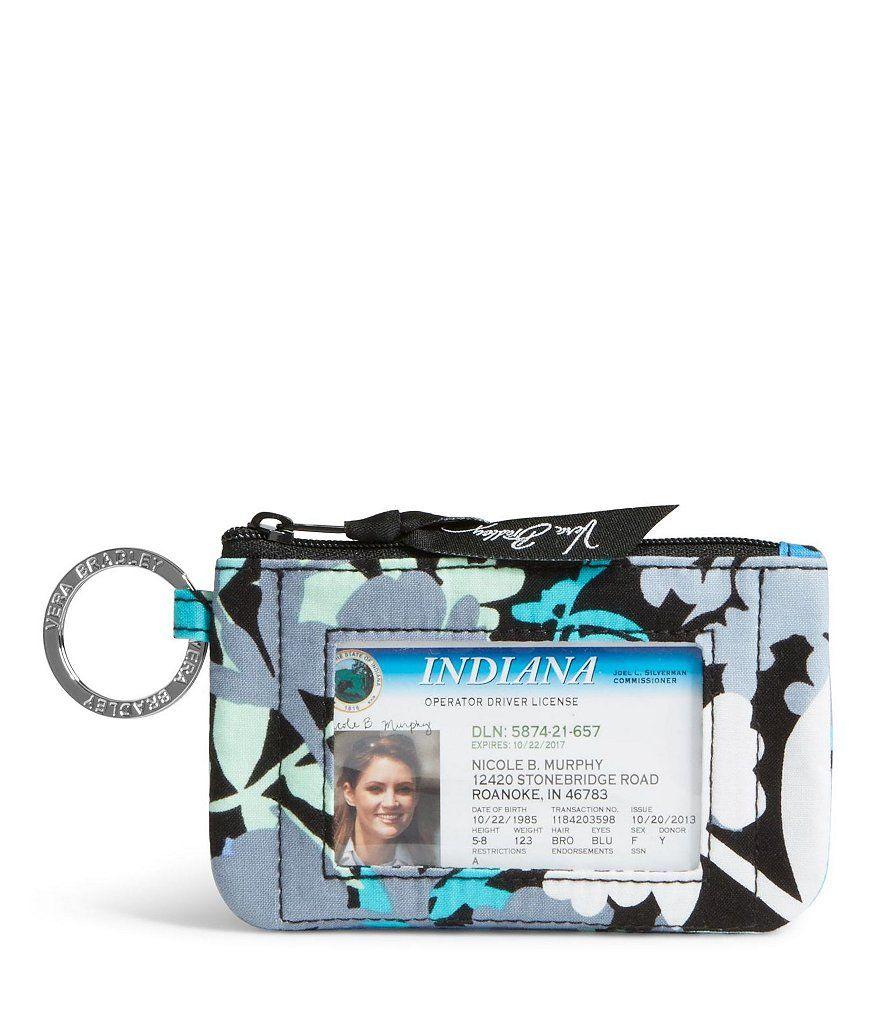 Camofloral Vera Bradley Zip Id Case Vera Bradley Wallet Keychain