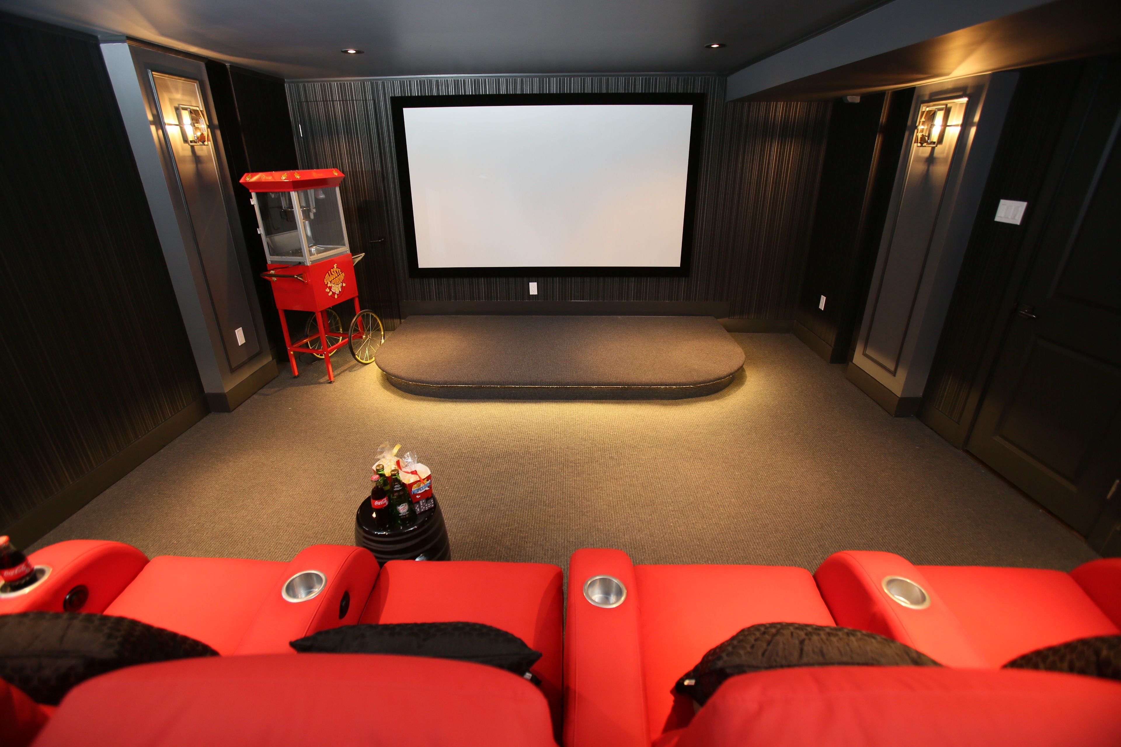 Home theatre designed by CMID www.cmidesign.ca #CMID