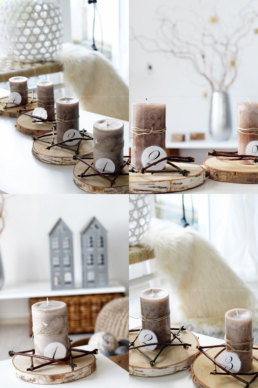 diy adventskranz advent advent baumscheiben binden. Black Bedroom Furniture Sets. Home Design Ideas