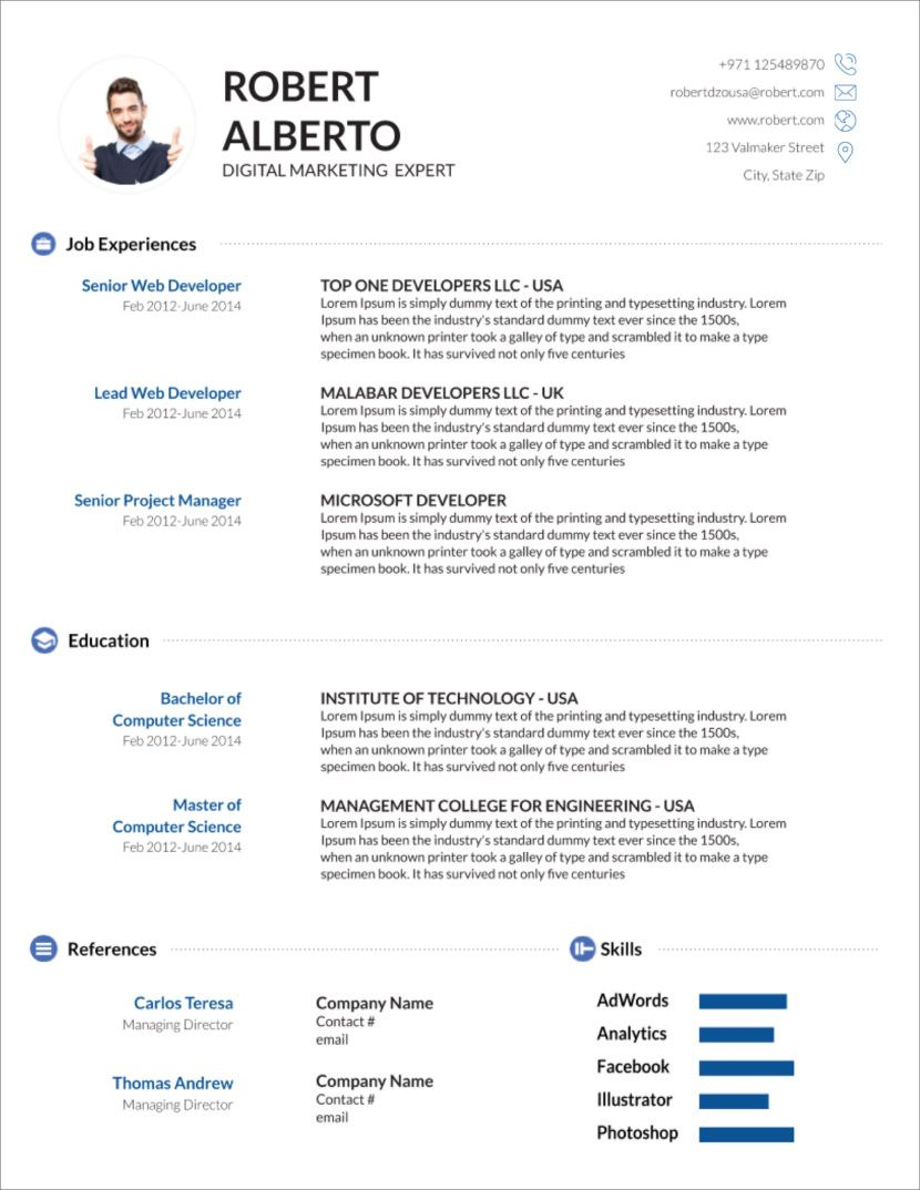 45 Free Modern Resume Cv Templates Minimalist Simple For How To Create A Cv T Microsoft Word Resume Template Downloadable Resume Template Cv Template Word