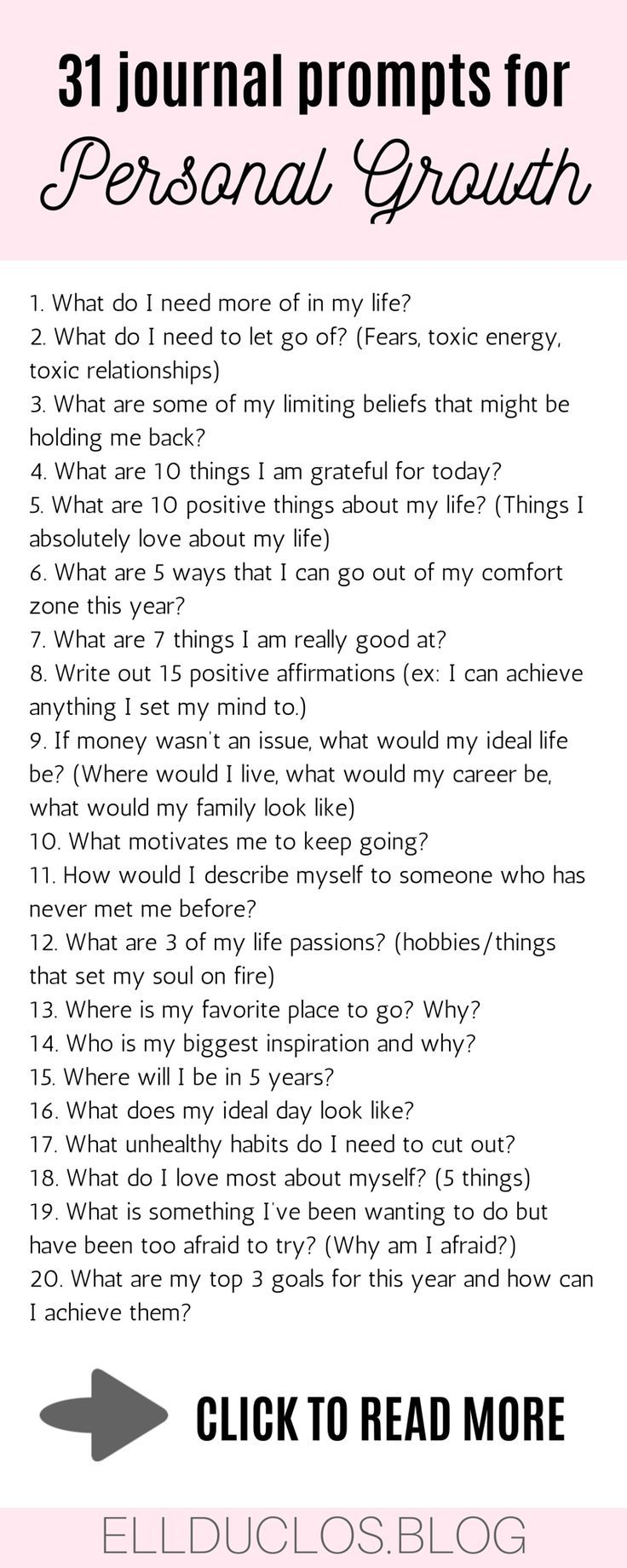 31 journal prompts for personal growth and self discovery