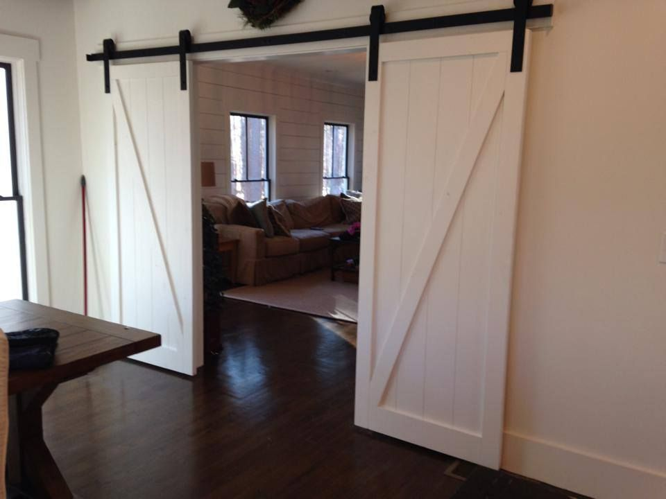 Modern Z Brace Panel Barn Door White Barn Door Rustic Interior Barn Doors Interior Barn Door Hardware