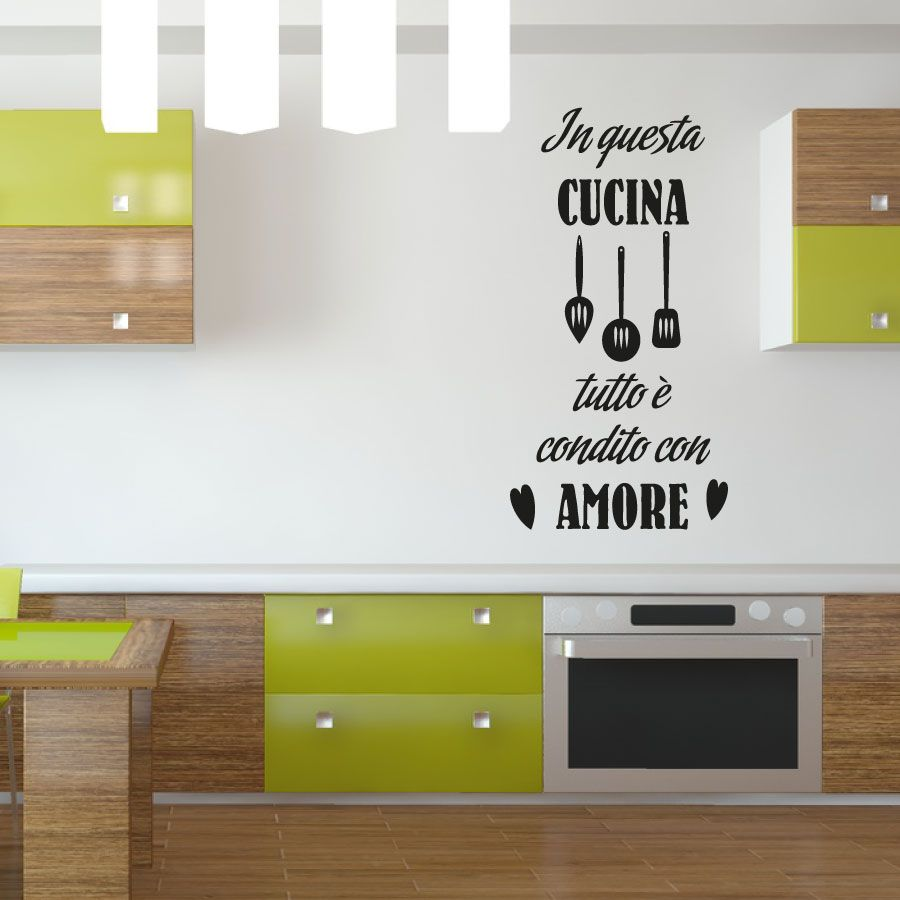 I nostri kit specifici per essere applicati ai muri for Scritte adesive cucina