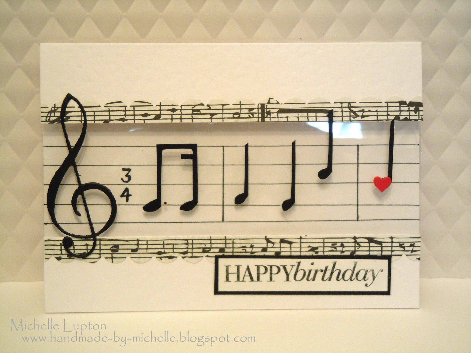 Handmade Birthday Card For Music Lovers