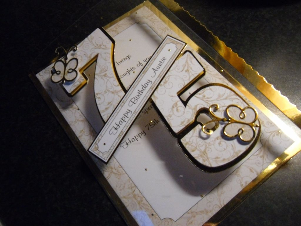 Handmade Gold 75th On Acetate