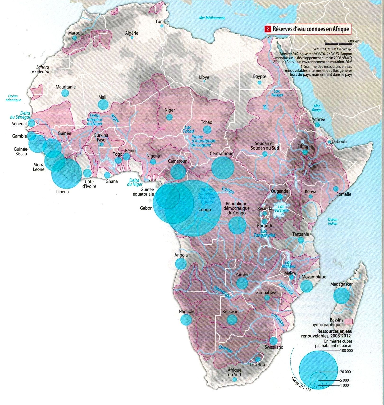 Renewable water resources in #Africa