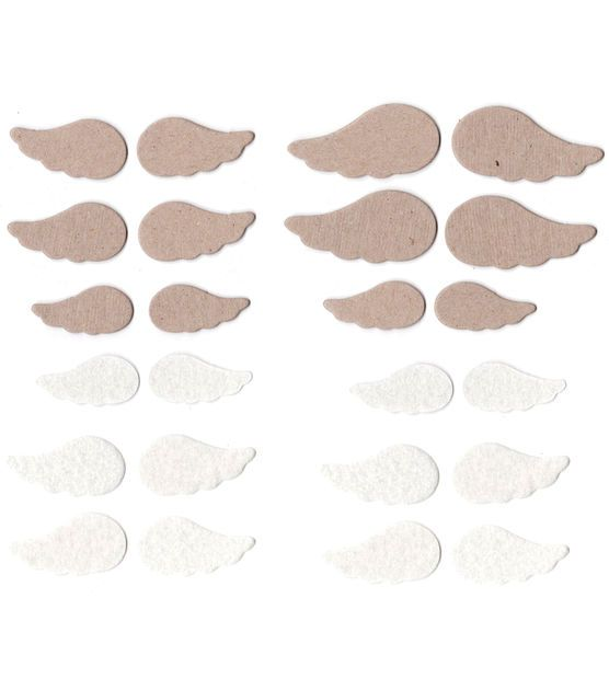Basically Bare Blank Embellishment Sets Wings