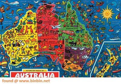 Map Of Australia Jigsaw Puzzle.Picture Puzzle Map Of Australia And New Zealand Jigsaw Puzzle By Jr