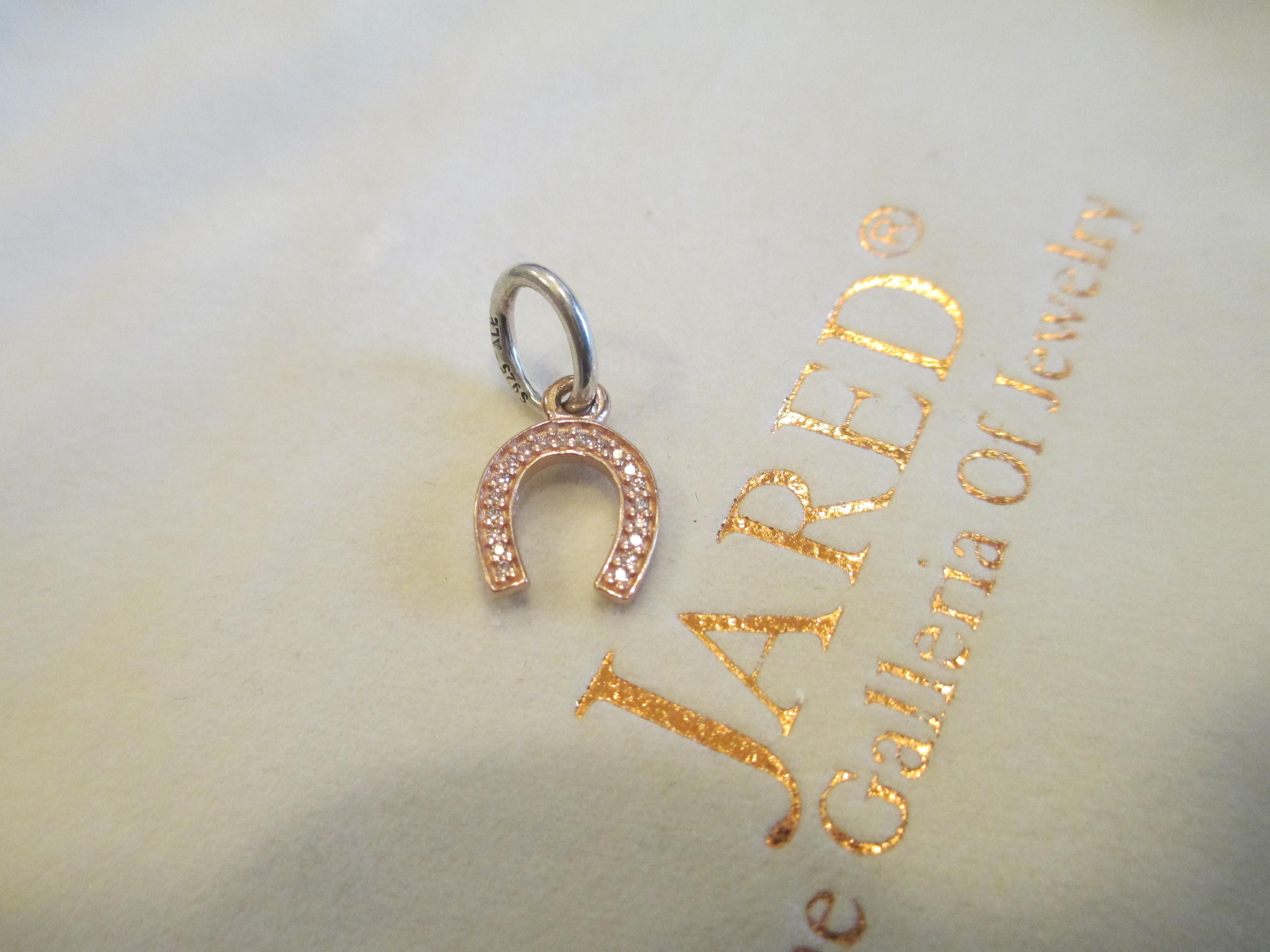 fc324b021 Authentic Pandora Retired 925 14kR 791356cz Symbol of Luck horseshoe  dangle. Free shipping and guaranteed