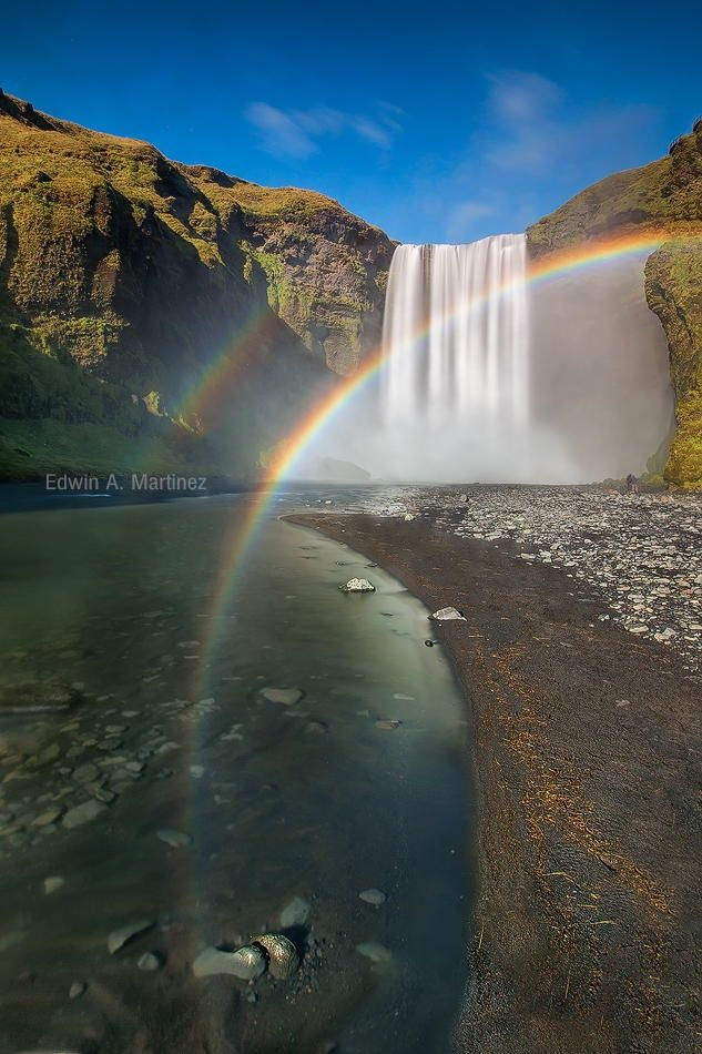 Skógafoss in Iceland by Bright by Edwin Martinez on 500px