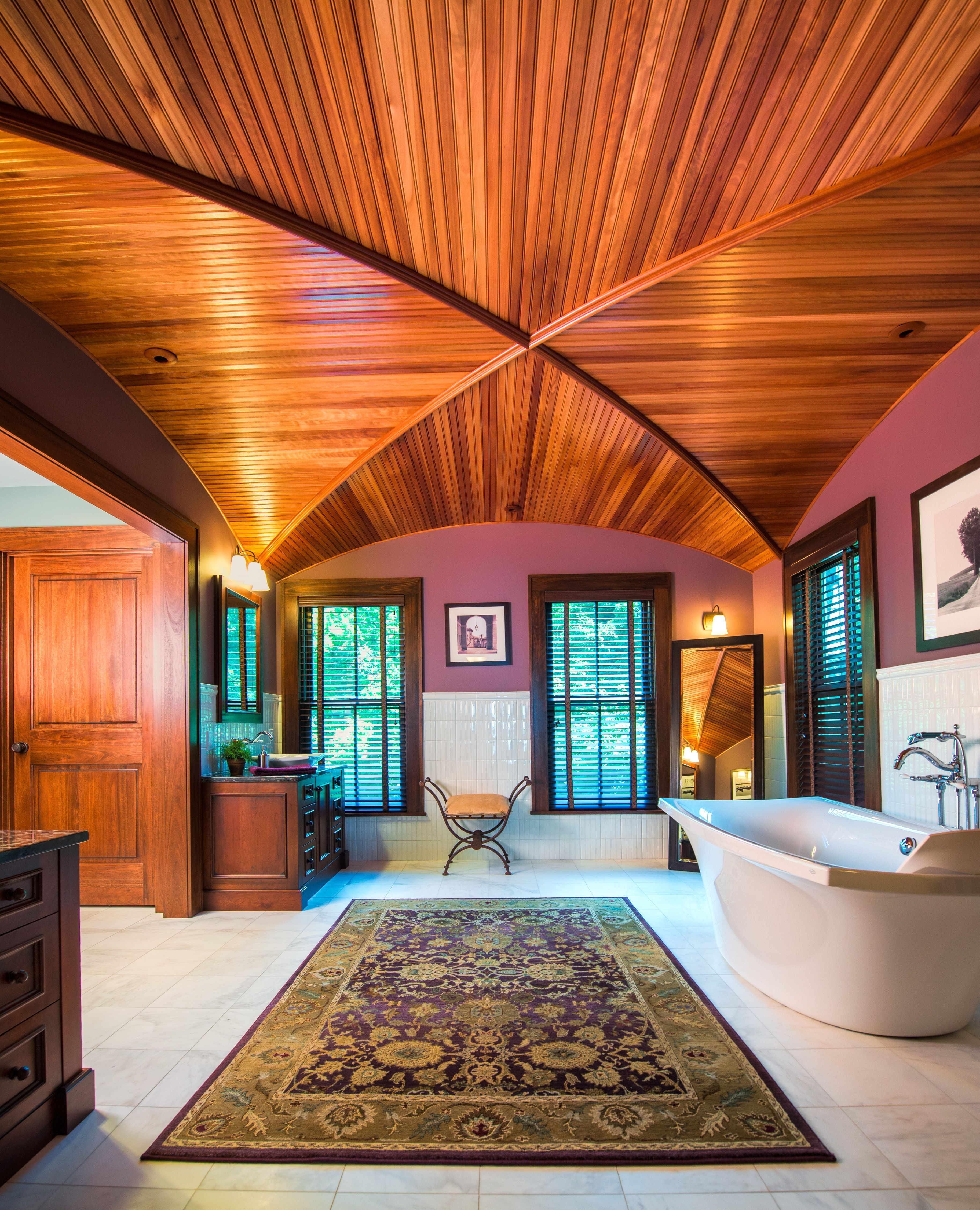 Master Bath and Wood Groin Vault Ceiling | Ceiling design ...