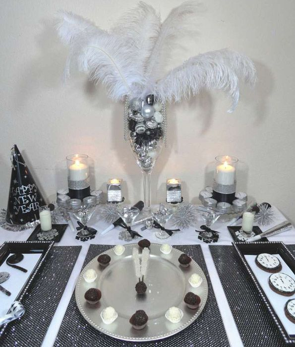 Black Silver And White New Year S Eve Party Evite New Year S Eve Party Themes New Year S Party Decorations New Years Eve Day