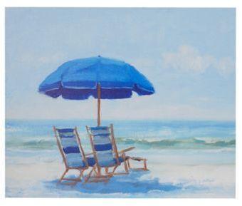 Madison Park Blue Beach Chairs Canvas Wall Art Products Beach