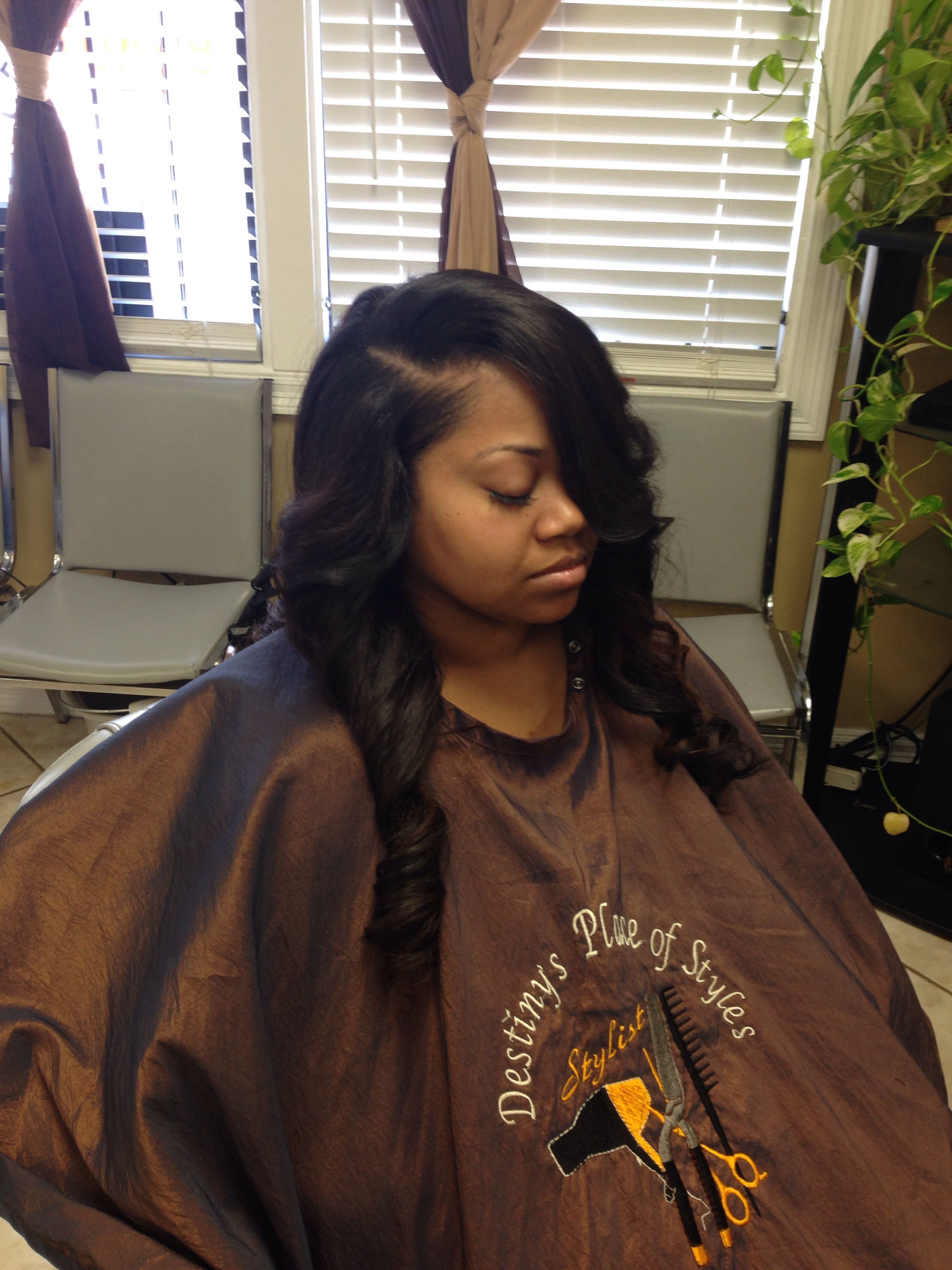 Sew In Side Part #sewin Brazilian Hair | Hairstyles by Me ...