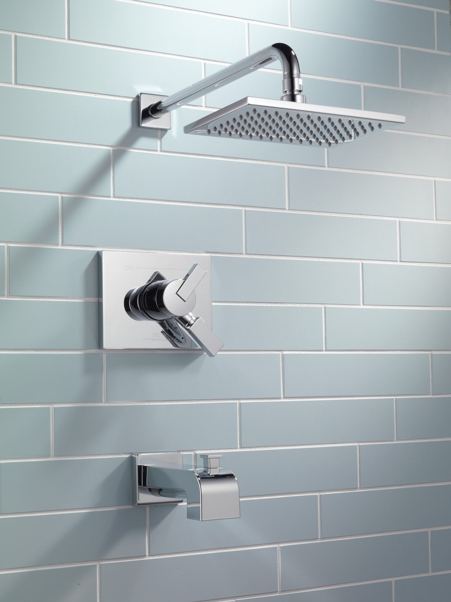 Vero Volume Control Tub and Shower Faucet Trim with Lever Handles ...