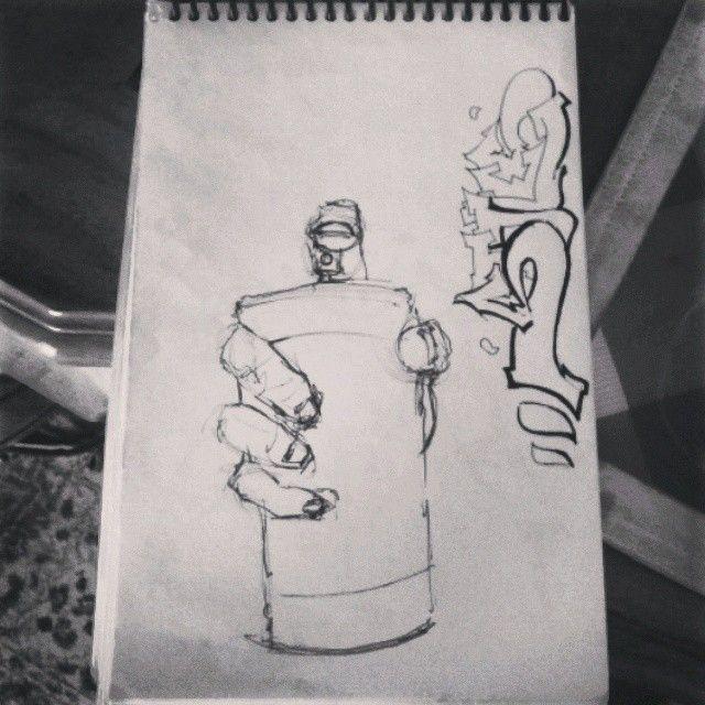 another piece from my highschool doodle pad. #instaart #bomb #blackbook #doodle #sketch #art