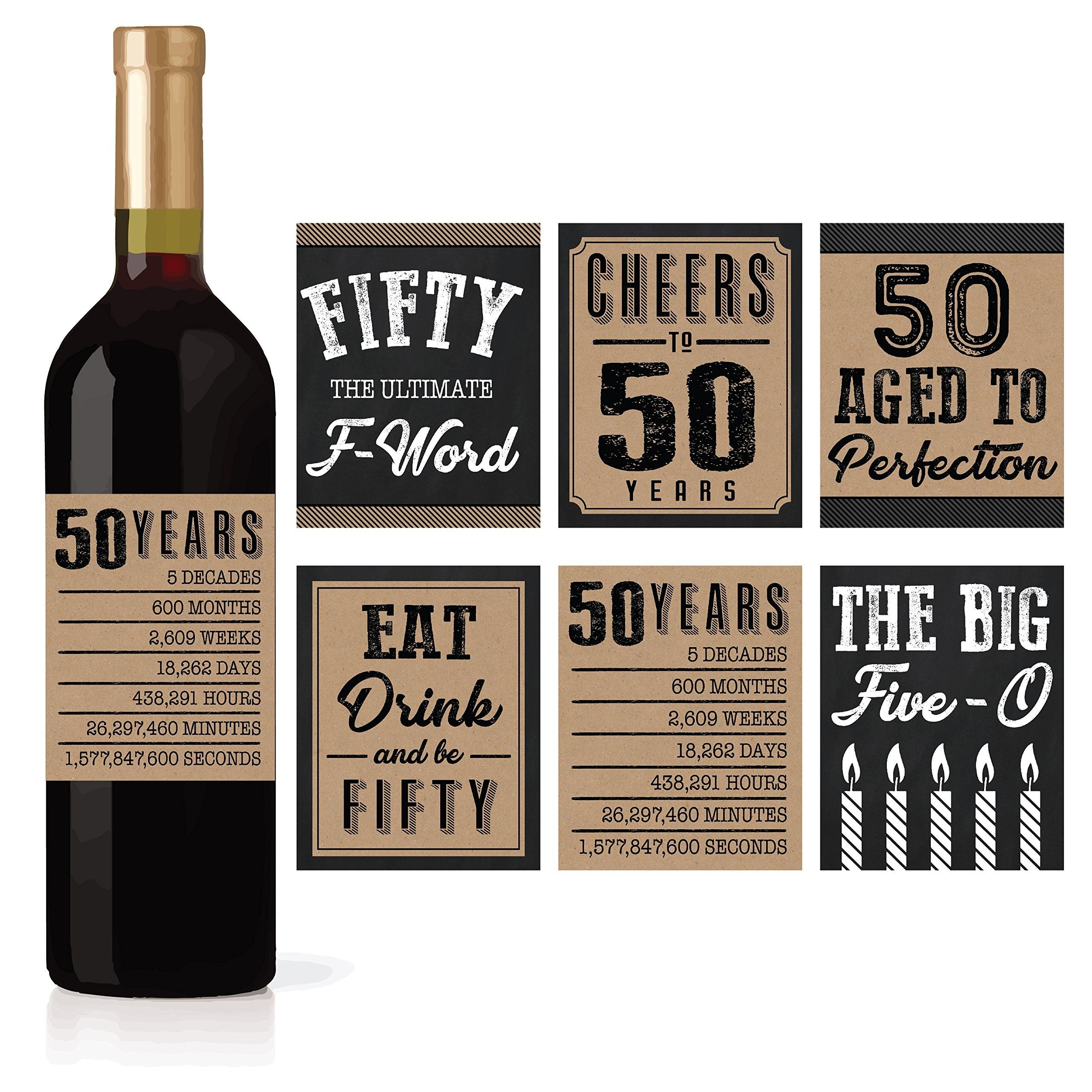 Free Printable Wine Labels for Birthday Amazon 50th