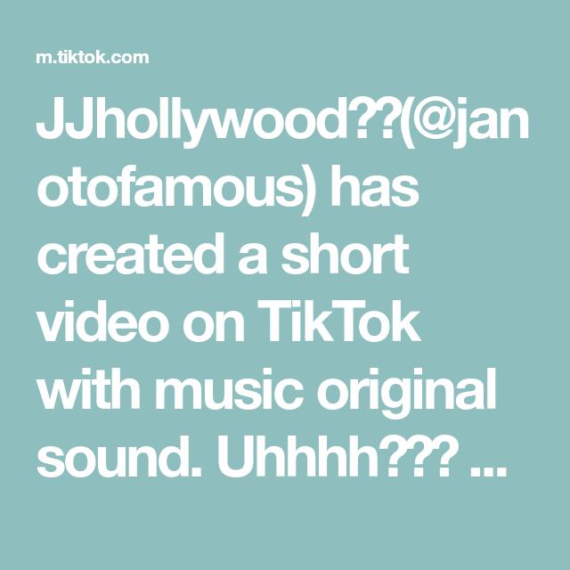 Jjhollywood Janotofamous Has Created A Short Video On Tiktok With Music Original Sound Uhhh Cyanide And Happiness The Originals University Of Birmingham